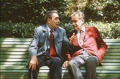 Leonid Brezhnev and Richard Nixon, Crimea, Ukrainian SSR, 1974 World Press, Soviet Union, Andy Warhol, The Past, Suit Jacket, Keto, Leather Jacket, Blazer, Suits