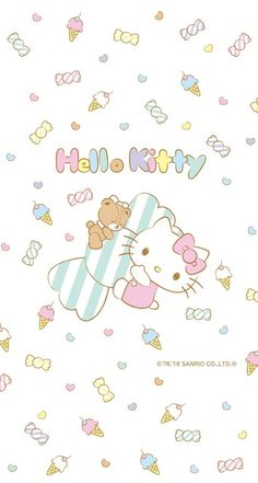 hello kitty and sanrio 圖片 and like OMG! get some yourself some pawtastic adorable cat shirts, cat socks, and other cat apparel by tapping the Hello Kitty Art, Hello Kitty Themes, Hello Kitty My Melody, Hello Kitty Pictures, Sanrio Hello Kitty, Sanrio Wallpaper, Hello Kitty Wallpaper, Kawaii Wallpaper, Iphone Wallpaper