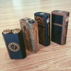 The BRIGADA by Puffbox with brass 510 connection, Delrin insulator, lock ring, mechanical switch, adjustable copper battery terminal, floating copper pin