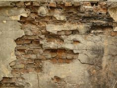 Old brick wall texture covered in thick layer of concrete with very decrepit surface. 41 textures in this category. Old Brick Wall, Old Wall, Break Wall, Distressed Walls, Brick Texture, Old Bricks, Old Churches, Restaurant, Textured Walls