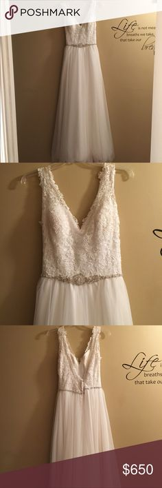 NWOT Allure Bridals wedding dress NWOT, Worn 1 time!!! Allure Bridals wedding dress, Amazing condition!!! Measurements are Bust - 36, Waist - 29, length - Around 59 inches!!! It's a beautiful dress in perfect condition!!!! Allure Bridals Dresses Wedding