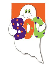 Take a look at this 'Boo' Ghost Flag by Evergreen on #zulily today!
