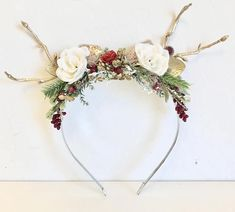 Reindeer Headband Baby Girl Headband-Christmas Headband Deer