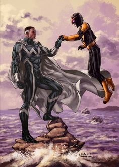 The Blue Marvel with Nova