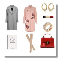 """""""Spring in the Office"""" by the-way-she-wears-it-finspo ❤ liked on Polyvore featuring River Island, Lancôme, Selfridges, Kendall + Kylie, Oscar de la Renta, Michael Kors, rag & bone and Gucci"""