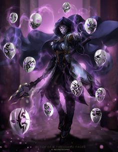 Witch of a thousand faces ( reminds me of a Mesmer aka GW2 for some reason)