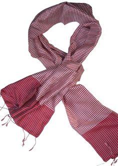 Sreyneang - Scarves from Cambodia - Handmade Silk Scarf from Cambodia (KRFS105), £39.90 (http://www.sreyneang.co.uk/handmade-silk-scarf-from-cambodia-krfs105/)