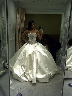 Jennifer Stano's wedding dress was perfect.