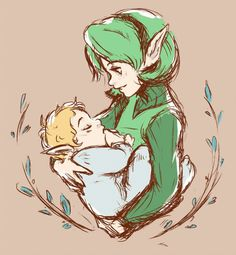 The Legend of Zelda: Ocarina of Time Link & Saria