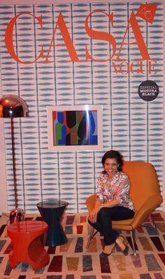Capa da Revista Casa Vogue 2015 Designer Roberta Lopes.