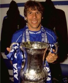 Gianfranco Zola with the FA cup Chelsea FC
