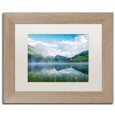 "Trademark Art 'Fog in the Mirror' by Michael Blanchette Framed Photographic Print Size: 11"" H x 14"" W x 0.5"" D, Matte Color: White"