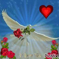 Christian Gifs-Page 2 Flowers Gif, Beautiful Rose Flowers, Beautiful Gif, Beautiful Birds, Dove Pictures, Jesus Pictures, Gif Pictures, Christian Paintings, Christian Artwork
