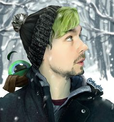 shuploc: JackSepticEye winter fan art! ;D----This fanart is beautiful man....