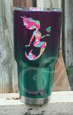 Custom painted mermaid Yeti