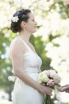 """Flowers in the garden"" Hair & Make up by Rebecca Paris#weddings #weddinghair #weddinghairstyles #vintagehair #romantic hair #hairup  #weddingmakeup #weddinginspiration #braids #weddingbraids #thegirlinthegreenscarf"