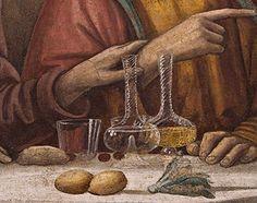 DOMENICO, il GHIRLANDAIO - Ultima Cena di San Marco (dettaglio) - affresco - 1486 circa - Cenacolo di San Marco - Museo nazionale di San Marco a Firenze.