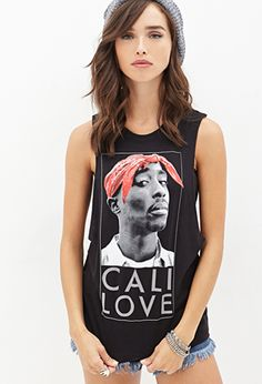 Tupac Muscle Tee | FOREVER21 - 2000101100 Debut Photoshoot, Love Jeans, Tees For Women, Muscle Tees, Cool T Shirts, Plus Size Fashion, Women Wear, Street Style, My Style