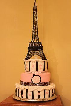 Paris Birthday Cake by lisafemmefondant, via Flickr