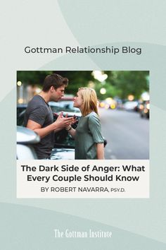 """""""When you notice that one or both of you seem to be flooded and overwhelmed, then it is important to agree to take a break from the conversation."""" Master Certified Gottman Therapist Dr. Robert Navarra offers advice for couples to manage challenging emotions on the Gottman Relationship Blog. Please note: The relationship suggestions on our social media are not intended to address situations of abuse. For immediate support, please contact thehotline.org. Gottman Institute, John Gottman, Relationship Blogs, Dark Side, True Love, Love Story, The Darkest, Social Media, Couples"""