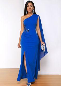Side Slit Maxi Dress, Maxi Dress With Sleeves, Dresses Elegant, Sexy Dresses, Elegant Clothing, Unusual Dresses, Bride Dresses, Trendy Dresses, Wedding Dresses