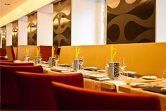 Restaurant Five Senses Innovation, Bathroom Lighting, Conference Room, Mirror, Table, Furniture, Home Decor, Nice, Vienna