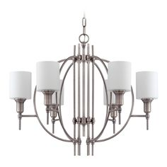 Craftmade Meridian Antique Nickel Chandelier | 37226-AN | Destination Lighting