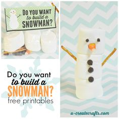 Build a Snowman Kids Crafts- so cute and fun! What kid wouldn't love this?