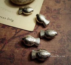 8pcs Antiqued Silver Cute 3D Chubby Fish Beads M33Gv by CMVision