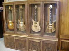 guitar humidity control case - Google Search Guitar Display Case, Guitar Storage, Free Standing Wall, Liquor Cabinet, Google Search, Display Cabinets, Furniture, Guitars, Home Decor