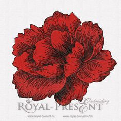 Machine Embroidery Designs - 2 Peonies, $2.95