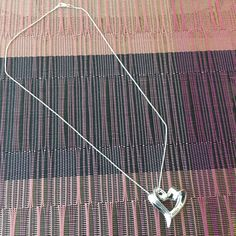 """Sterling Silver 17"""" Chain with Heart Pendant engraved XOXO I LOVE YOU by Klcvintagetreasures on Etsy"""
