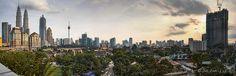Kampung Baru, Kuala Lumpur, Panorama + HDR