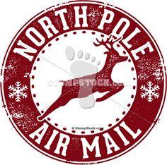 North Pole Postmark | North Pole Stamp Clip Art Stamp clip art. north pole