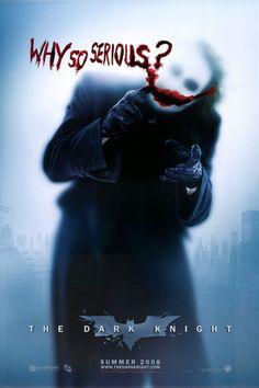 Heath Ledger as Joker - The Dark Knight, 2008 / movie poster