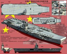 China's Future Aircraft Carrier ML: Get us 3, please! :) People's Liberation Army, Military Drawings, Merchant Marine, Navy Marine, Military Helicopter, Military Weapons, Navy Ships, Aircraft Carrier, Model Ships