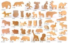 ANY 12 animals Organic wooden toy Wooden toy animals
