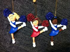 Personalized Christmas Ornament Cheerleader Sports Cheerleading Ornament Customizable