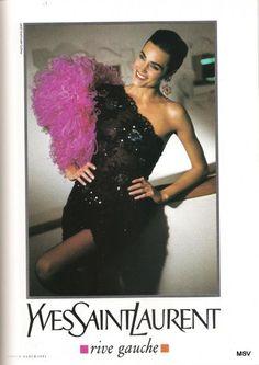 Jasmine LeBon - Yves Saint Laurent Rive Gauche ad 80s