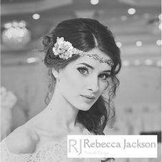 'PAIGE' Bridal / Wedding, Vintage style Forehead Band, Bespoke by Rebecca Jackson