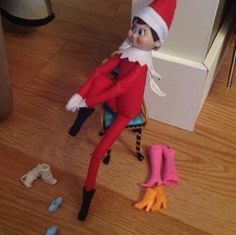 Girl Elf on the Shelf Ideas Awesome Elf On The Shelf Ideas, Elf On The Self, Elf Magic, Girl Elf, Naughty Elf, Christmas Preparation, Buddy The Elf, Lego, Christmas Elf