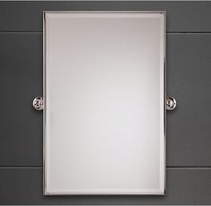 vintage rectangular pivot mirror