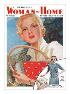 The strikingly elegant August 1951 tennis themed #cover of #Woman #And #Home #magazine. #vintage #1950s #tennis #magazines  By totallymystified on Flickr