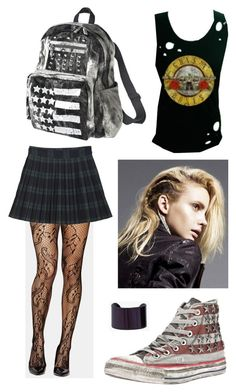 """""""are u going to a strip club?!"""" -""""...no..."""" by i-kissed-a-zombie ❤ liked on Polyvore featuring Monki, Converse, Mossimo Supply Co., Maison Margiela, women's clothing, women's fashion, women, female, woman and misses"""