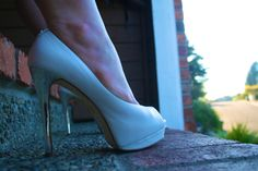 Michael kors white heels