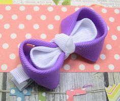 Easter Hair Bow / Kanzashi Hairbow / Girls by TheBowfairyBowtique