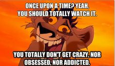 True story. :/ i started watching it on Netflix about 2 weeks ago and COULD NOT STOP. I had to FORCE myself to shut it off!! (After watching 6 episodes in one sitting, and four a day during the next 2 days!!..)