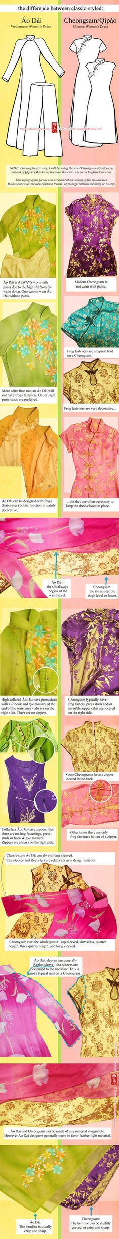 A while ago I was asked about the construction of the Vietnamese Ao Dai and Chinese Cheongsam/Qipao. I had a few dresses at my disposal and figured it would be fun to do a compare and contrast. Due...
