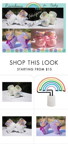 """""""Rainbows for Baby"""" by imaginebaby ❤ liked on Polyvore featuring West Elm"""