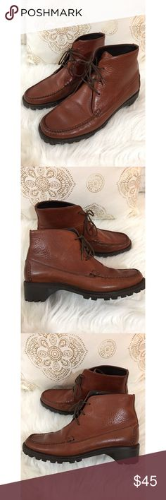 Cole Haan Country Brown Leather Ankle Boots 6 1/2 Size 6 1/2 B  Color is brown Excellent condition and great quality boot Cole Haan Shoes Ankle Boots & Booties